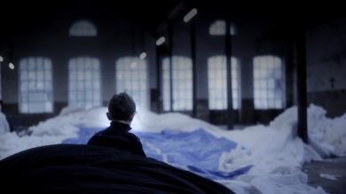 Still from Les Funerailles de la Baleine, Claudia Losi, 2010. Director Daniele Signaroldi. Image © Claudia Losi